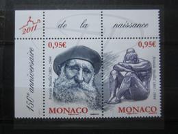 VEND BEAUX TIMBRES DE MONACO N° 2766 + 2767 + BDF , XX !!! - Unused Stamps