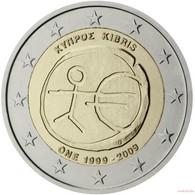 [C0219] Chipre 2009; 2€ - 10 Aniversario UEM (UNC) - Cyprus