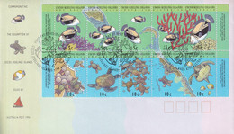 Cocos (Keeling( Islands 1994 Map & Reef Sc 289-90 FDC - Cocos (Keeling) Islands