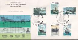 Cocos Keeling Islands 1976 Ships FDC Part II - Cocos (Keeling) Islands
