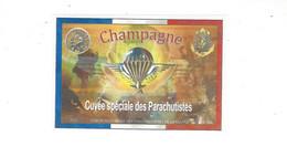 ETIQUETTE  CHAMPAGNE  CUVEE SPECIALE DES PARACHUTISTES  DE LA MARNE   *** RARE     A  SAISIR *** - Champagne