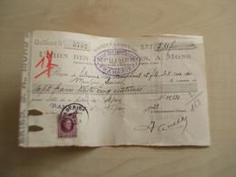 Ancien Reçu 1907  UNION DES IMPRIMERIES  MONS FRAMERIES - Printing & Stationeries
