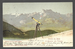 Chemin De Fer Aigle Leysin. Dents Du Midi, Glacier Du Trient (6682) - VD Vaud