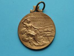1905 EXPOSITION Universelle De Liège / Comité Des Fêtes ( Mathelin ) > ( Voir Photo ) 40 Mm. / 24 Gr.! - Elongated Coins