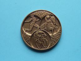 BELGISCH OLYMPISCH COMITé OLYMPIQUE BELGE 1977 ( Zie Foto's ) 40 Mm. / 32 Gr. / Bronskleur ! - Elongated Coins