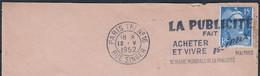 """FLIER   """" LA PUBLICITE FAIT...""""    Sur Enveloppe De PARIS TRI N°16  Le 12 V 1952 - Annullamenti Meccaniche (Varie)"""