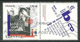 2020 Yt 5406 (o) Boris Vian 100 Ans 1920-2020 - Gebruikt