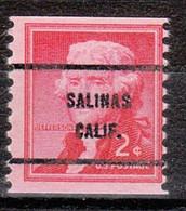 Locals USA Precancel Vorausentwertung Preo, Bureau California, Salinas 1055-61 - Precancels