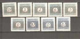 NDH (Croatia) - 1943. Porto, Complete Set, MNH  /649b/ - Croatie