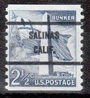 Locals USA Precancel Vorausentwertung Preo, Bureau California, Salinas 1056-71 - Precancels