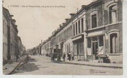 Nord FRESNES Rue De Valenciennes, Vue Prise De La Grand'place - Autres Communes