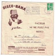 POCHETTE OU ENVELOPPE VIDE POUR DISQUE DISCO-BANA Y' A BON BANANIA 1964 FLAMME PHILATELIE & TECHNIQUE GRAND-PALAIS PARIS - Pubblicitari