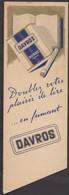 Marque Page Signet Cigarette Davros Librairie De Rome Bruxelles - Vintage Bookmarks - Bookmarks