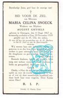 DP Maria Celina Snoeck ° Ouwegem Zingem / Kruisem 1867 † Eine Oudenaarde 1939 X August Ghysels - Andachtsbilder