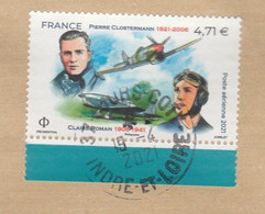 Carte-Maximum FRANCE 2021 - N° Y&T PA N° 85 Oblitéré ( P. CLOSTERMANN Et C. ROMAN) - 1960-.... Oblitérés