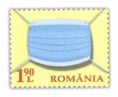 956  Masque De Protection: PAP De La Roumanie - Face Mask On Imprinted Stamp. Corona Virus Covid-19 - Ziekte