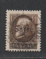 Sarre - YT N° 27 Oblitéré (cote 52 Euros) - Usati