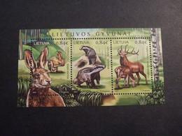 LITHUANIA 2017 Lithuanian Fauna Among European Hare (Lepus Europaeus) MNH **. (043004-252) - Conejos