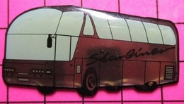SP02 Pin's Pins / Beau Et Rare / THEME : TRANSPORTS / AUTOBUS ROUTIER AERODYNAMIQUE STARLINER - Transportation