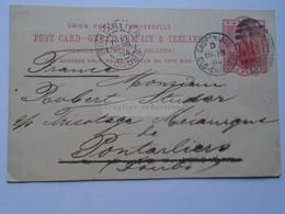 D178776 Great Britain  Postal Stationery 1894  Church Lane- Old Charlton London Sent To PONTARLIER (Doubs) France - Luftpost & Aerogramme