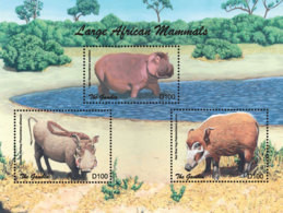 Gambia 2018  Fauna  Wart Hog ,hippo  I201901 - Gambia (1965-...)