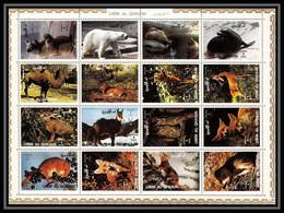 617 - Umm Al Qiwain MNH ** Mi N° 1130 / 1145 A Bloc Animals Animaux Mammals Camel Squirrel Dog Lion Polar Bear Fox - Umm Al-Qiwain