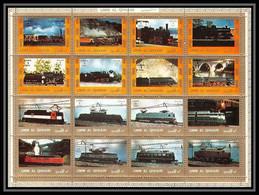 616 - Umm Al Qiwain MNH ** Mi N° 1210 / 1225 A Bloc Locomotives Trains Tain - Umm Al-Qiwain