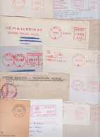 NORGE NORWAY NORVEGE - Lot Varié De 208 Enveloppes Affranchissement Machine EMA Stampless Meter Mail Covers Slogan PP - Unclassified