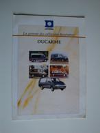 Plaquette Originale Pour Véhicules Funéraires Ducarme Groupe Gruau,La Talaudière - Automovilismo