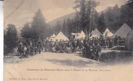 CAMPEMENT DE CHASSEURS ALPINS DANS LE MASSIF DE LA VANOISE - Manovre