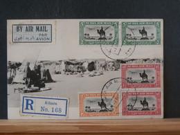 A13/587  CP  SUDAN RECOMM. ATBARA POUR LA BELG. VERSO CACHET PARIS 1932 - Sudan (...-1951)