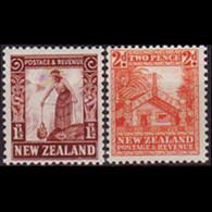 NEW ZEALAND 1935 - Scott# 187-8 Maori 1.5-2p LH - Unused Stamps