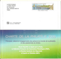 """PAP - Lettre Prêt-à-poster LA POSTE Phil@poste BOULAZAC - """"Charte De La Philatélie"""". Entier LA ROCHELLE N°4172 Port Payé - Pseudo-officiële  Postwaardestukken"""