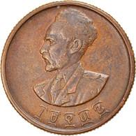 Monnaie, Éthiopie, Haile Selassie I, 10 Cents, Assir Santeem, 1944, TTB - Ethiopia