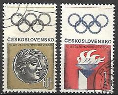 TCHECOSLOVAQUIE    -  1966.  Y&T N° 1507 / 1508 Oblitérés.   Comité Olympique - Gebraucht