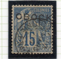 37CRT318 - OBOCK 1892 , Yvert N. 15 Usato. - Usati