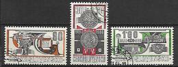 TCHECOSLOVAQUIE    -  1966.  Y&T N° 1510 à 1512 Oblitérés .   Expo Philatélique .  Série Complète. - Gebraucht
