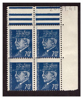 Coins Datés Du N° 510 A Coin Daté En Haut à Droite , Timbres Très Déplacés Vers Le Bas Pas De Signature - Curiosities: 1941-44 Mint/hinged
