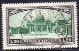 CITTÀ DEL VATICANO VATICAN VATIKAN 1933 GIARDINI E MEDAGLIONI LIRE 20 USATO USED OBLITERE - Gebruikt