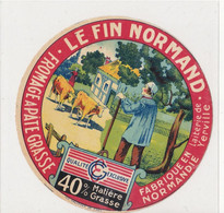 ÉTIQUETTE DE FROMAGE -  CAMEMBERT  LE FIN NORMAND - 40%  (A) - Cheese