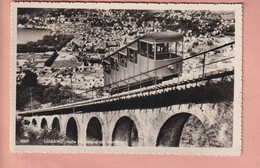 OUDE POSTKAART - ZWITSERLAND -  LUGANO - FUNICOLARE - MONTE BRE - TI Ticino