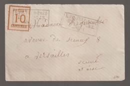 Occupation Allemande Guerre 1870, Timbre à 10c Oblitéré Feldpost Relais N°43 / Lettre Pour Versailles - Oorlogen