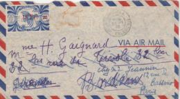 Nouvelle Calédonie Lettre Par Avion NOUMEA 25/1/1946 Pour Bordeaux Réexpédiée Paris - Voir Scan - Cartas