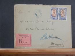 A13/597  LETTRE RECOMM.POUR LA BELG.  1928 - Ethiopia