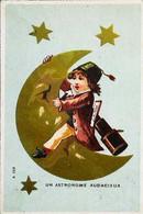 ►   Chromo     Astronome Audacieux   Lune Moon Longue Vue   Chocolat Gauchey - Sin Clasificación