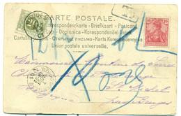 TX6 Met Stempel Bruges 01 + Ambulante Stempel Verviers-Buxelles 1901 - Ambulants
