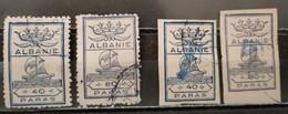 ALBANIE - Timbres Taxe 40 Et 80 Paras N + ND Oblitérés (rare) - Albania
