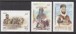 2018 Algeria Algerie Resistance Leaders Camels Horses History  Complete Set Of 3 MNH - Argelia (1962-...)