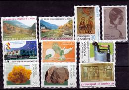 Andorre Espagnol 1995 1996 Années Complètes 231 à 240 Poste Neuf ** MNH Sin Charmela - Unused Stamps