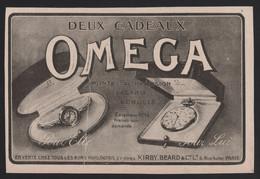 Pub Papier 1917 Montres Chronometres OMEGA Montre Horlogerie Horloger Bienne SUISSE - Advertising